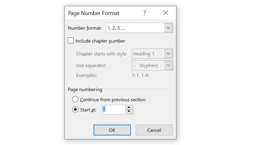 How to start page numbering on page 3_change page number