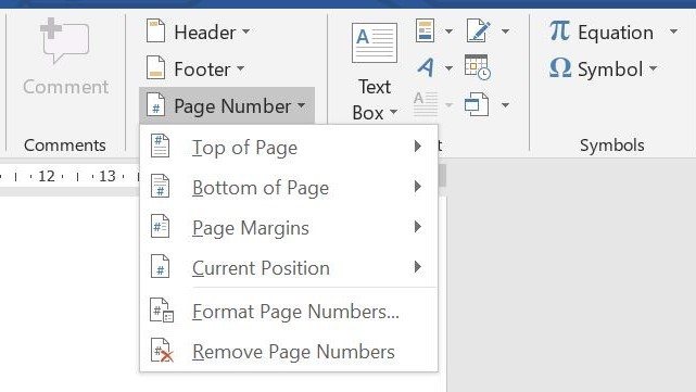 How to start page numbering on page 3_insert page number