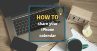 How to share your iPhone calendar