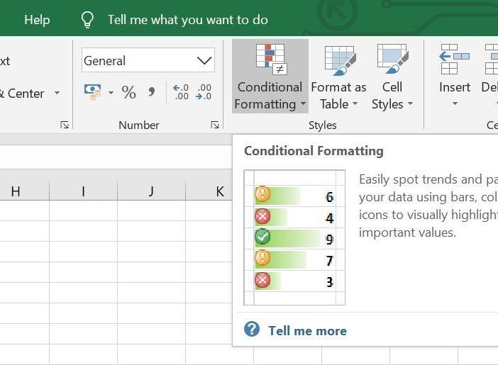 Microsoft Excel Conditional Formatting