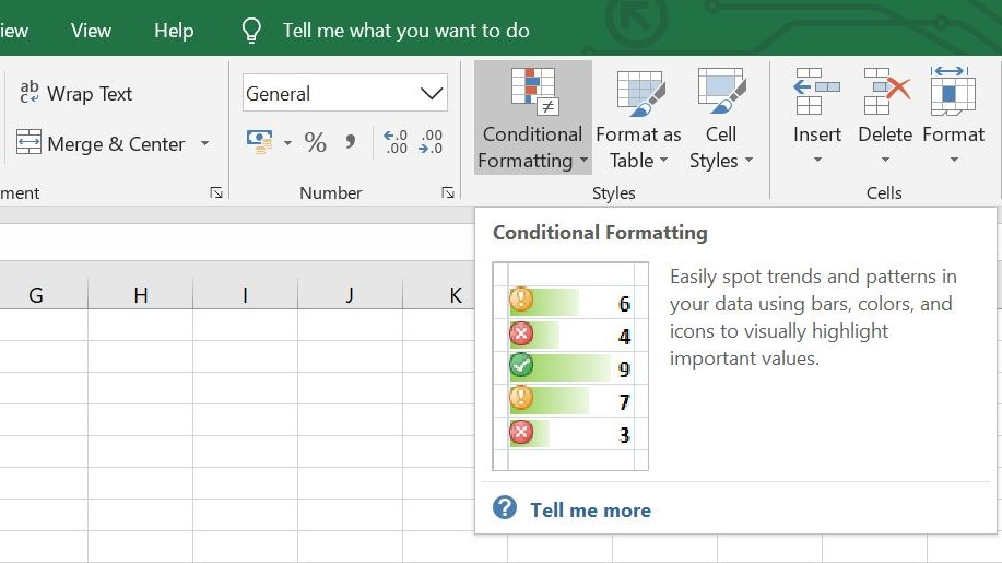 Microsoft Excel Conditional Formatting