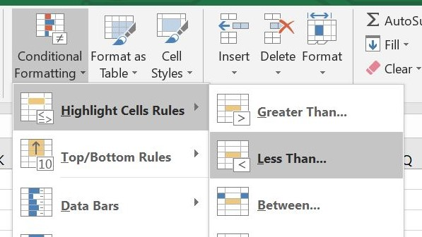 Microsoft Excel Highlight Cells Rules