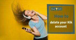 How to delete your Kik account