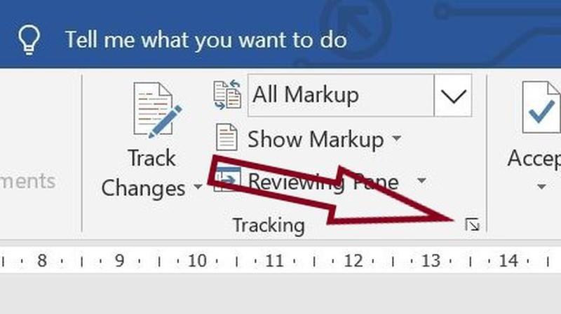 Where to find more customizing options for markup and tracking in Word