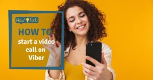 How to start a video call on Viber