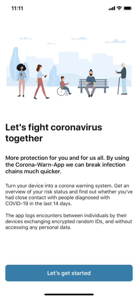How to use the Corona warn app