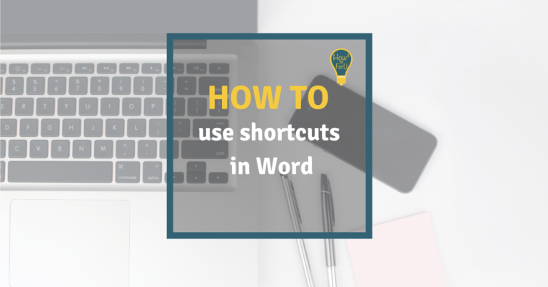 Shortcuts in Word