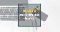 How to create templates in Word