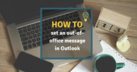 How to set an automatic out-of-office reply in Outlook