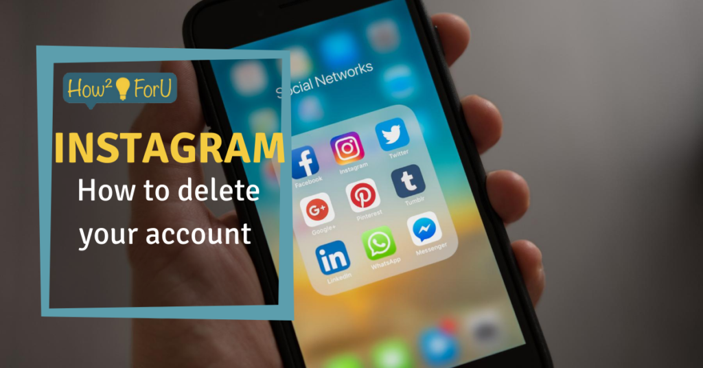 How to delete an account on Instagram