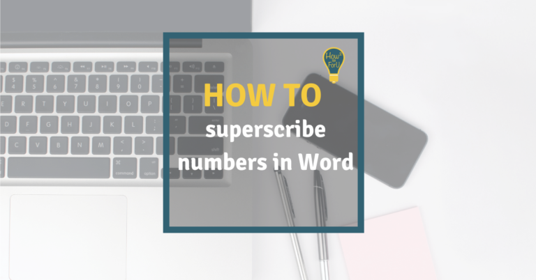 How to superscribe numbers in Microsoft Word