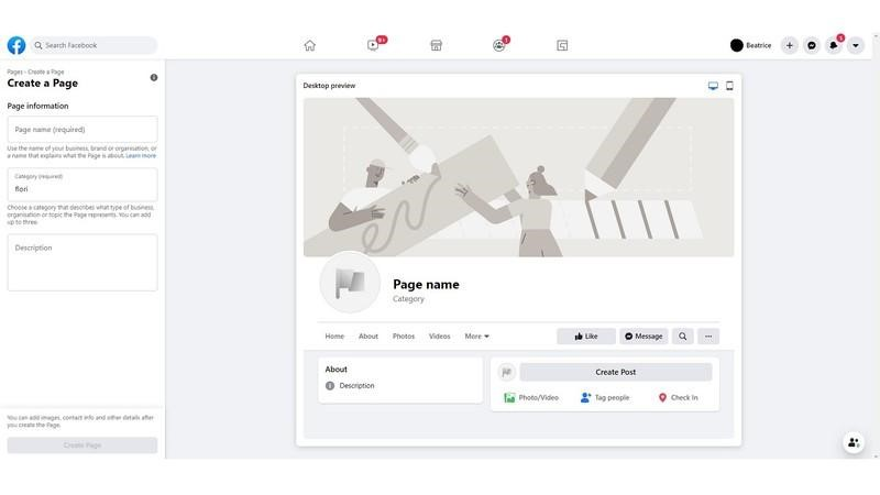 Describe your business on Facebook