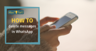 How to delete messages in WhatsApp
