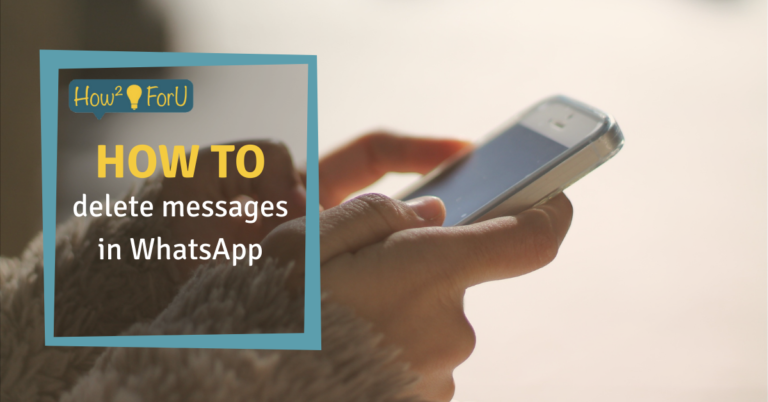 """Teaser image for the article """"How to delete messages in WhatsApp"""""""