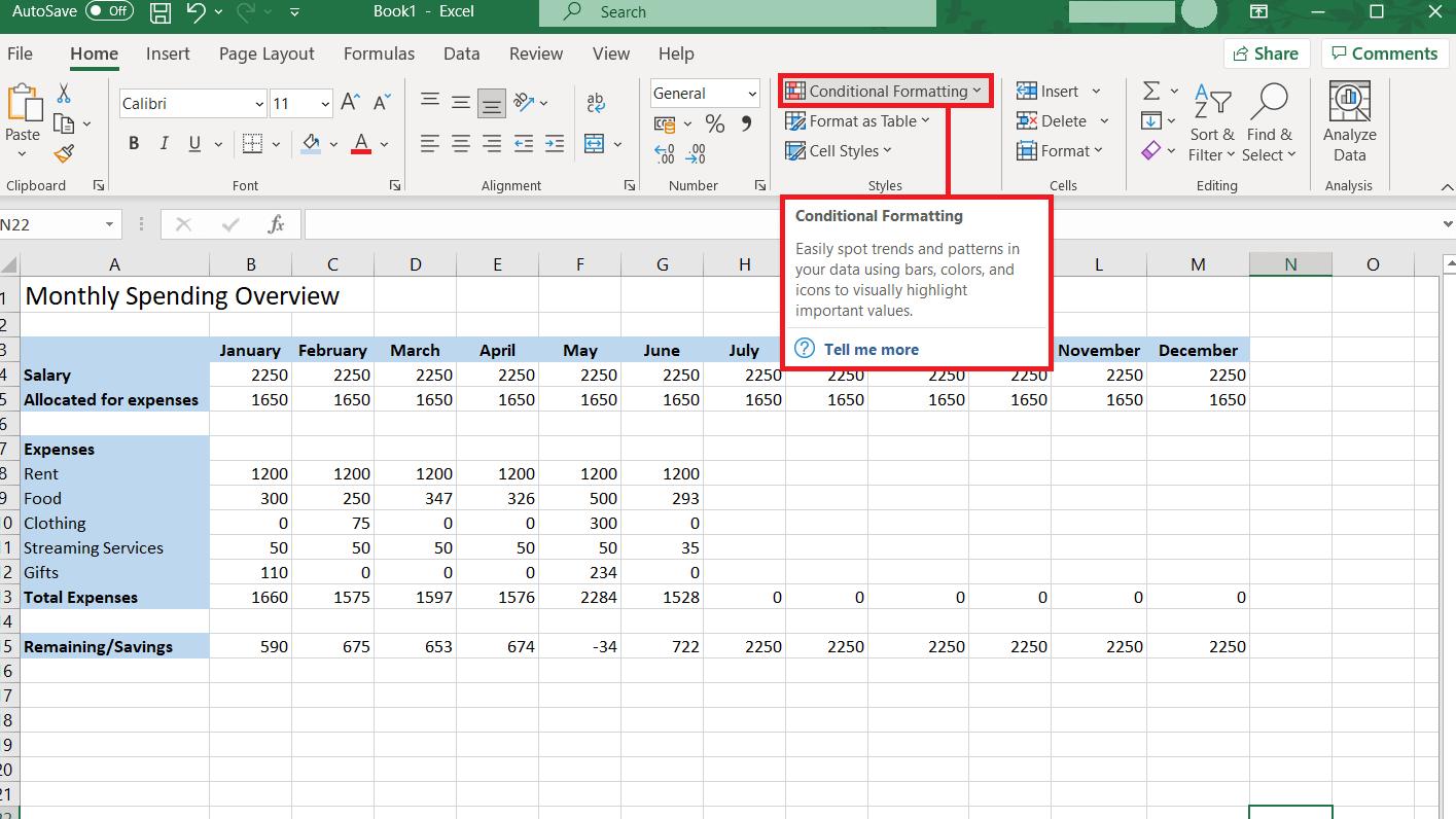 Excel If Formula Change background color based on value