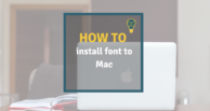 How to install font to mac
