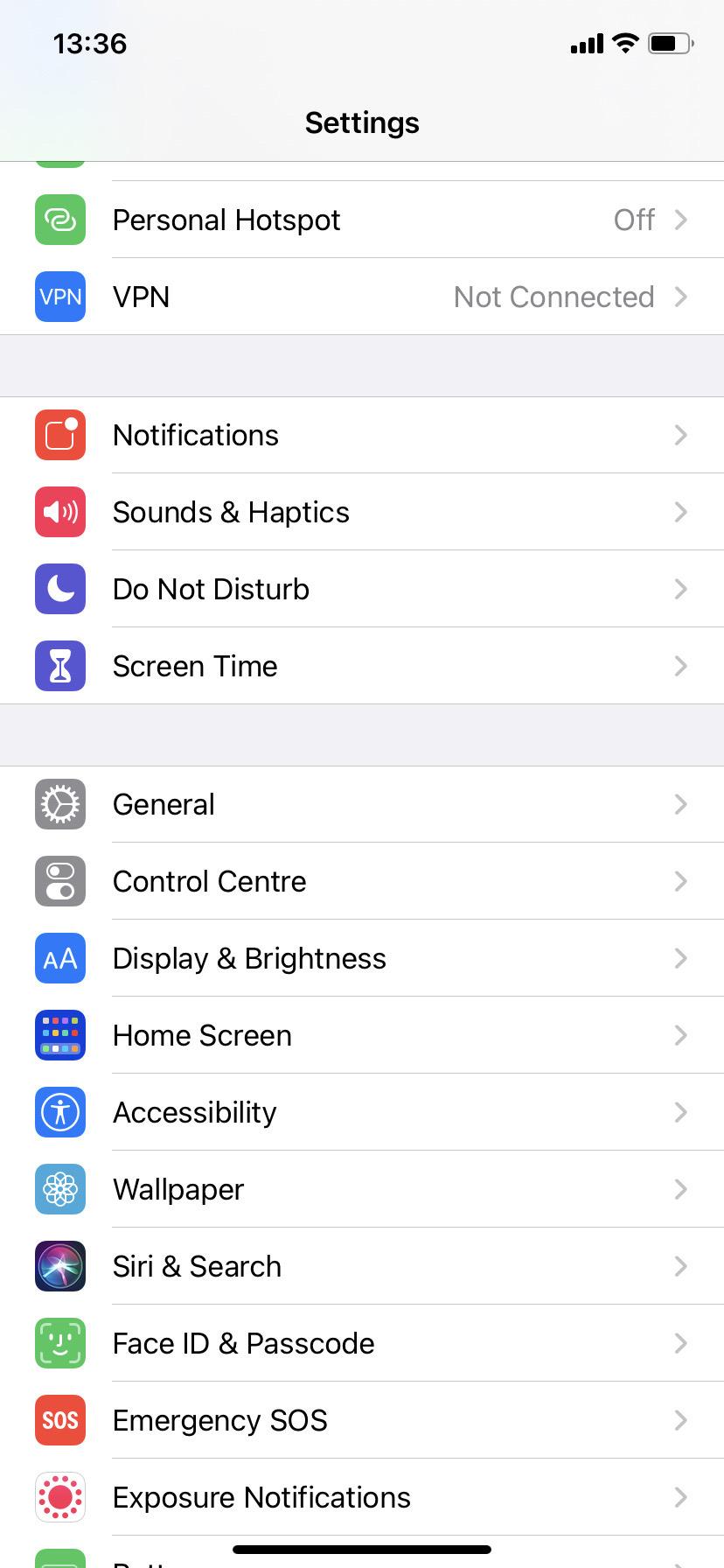 Adjust your settings on iOS14