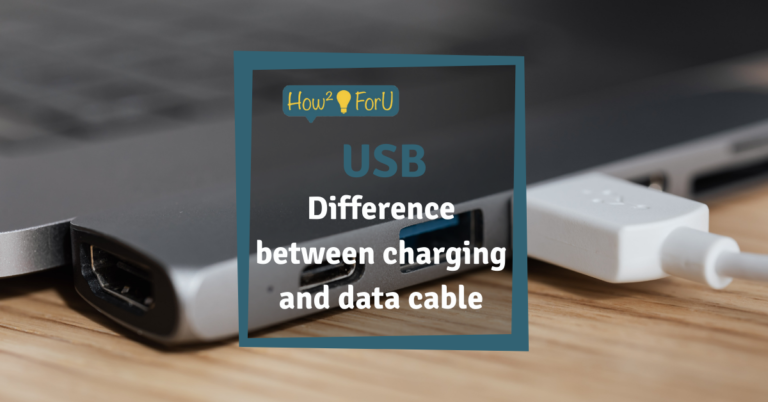 """Teaser image for the article """"USB: Difference between charging and data cable"""""""